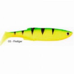 LB 3D Bleak Paddle Tail 8cm 4g 03-Fire Tiger