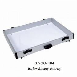 Kaseta aluminiowa z uchwytem i szynami Robinson kolor czarny 67-CO-K04