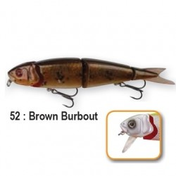4PLAY 'LIP LURES' - 13cm 52-Brown Burbout