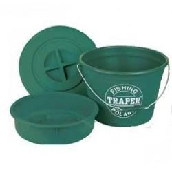 Wiadro z miską i pokrywka zielone 25l 68020