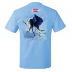 Koszulka T-Shirt Fish Print Sailfish XXL