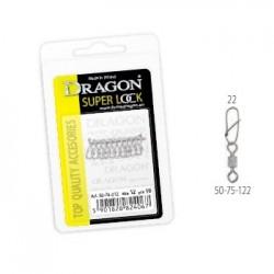 Agrafka z krętlikiem DRAGON 22 10szt. 50-75-122