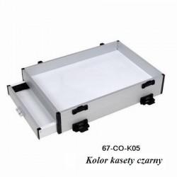 Kaseta aluminiowa z boczną szufladą Robinson kolor czarny nr.katalogowy 67-CO-K05