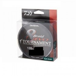 Plecionka DAIWA TOUMAMENT 8 BRAID EVO dark green (ciemno zielona)135m 0,18mm 15,8kg