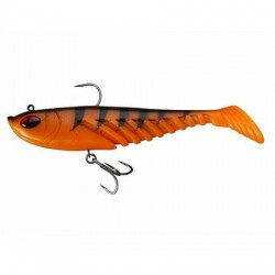 Prerigged Giant Ripple 20cm Berkley Orange Black