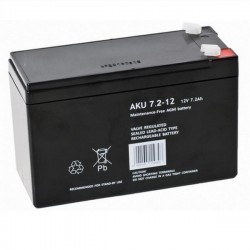 Akumulator żelowy AKU 7,2-12 F1 (12V 7,2Ah)