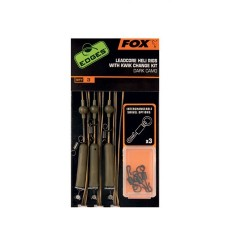 FOX EDGES LEADCORE HELI RIGS Dark Camo 45lb CAC574