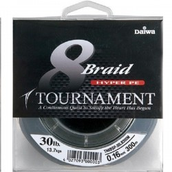 Plecionka DAIWA TOUMAMENT 8 BRAID HYPER PE Green (zielona) 135m 0,12mm 8,9kg