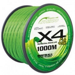 Plecionka Shiro Silk Braided Line X4 - Green 0,21mm 21,2kg 1000m