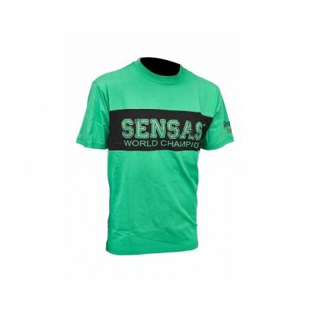 Koszulka T-Shirt Club Bicolore Vert & Noir 2XL SENSAS 62788