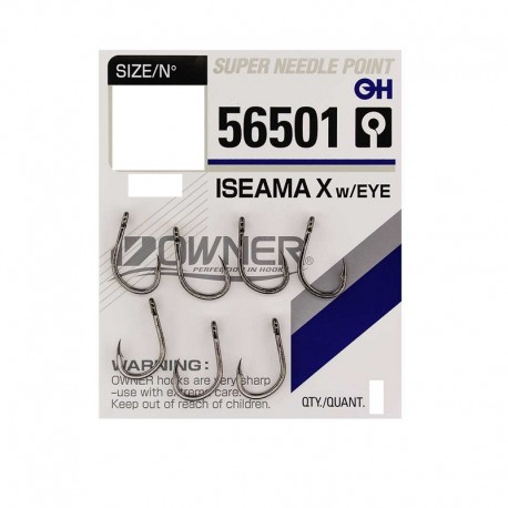Haczyki Owner ISEAMA X w/EYE 56501 nr 10