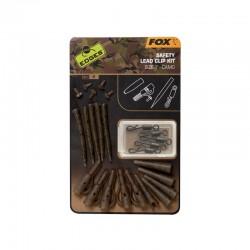 EDGES FOX Camo Safety Lead Clip Kit Size 7 CAC780