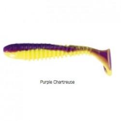 Flex Rib Shad 9 cm kolor Purple Chartreuse