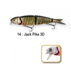 4PLAY 'LIP LURES' - 13cm 14-Jack Pike 3D