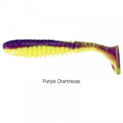 Flex Rib Shad 6,5 cm kolor Purple Chartreuse